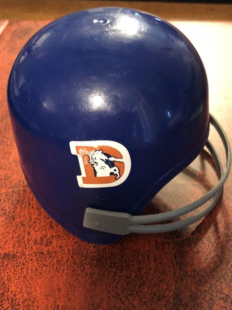 Denver broncos throwback 80s plastic toy mini helmet