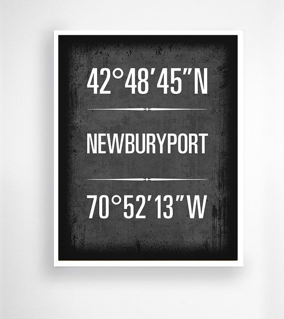 Newburyport Massachusetts Geographic By NauticalFlagShop