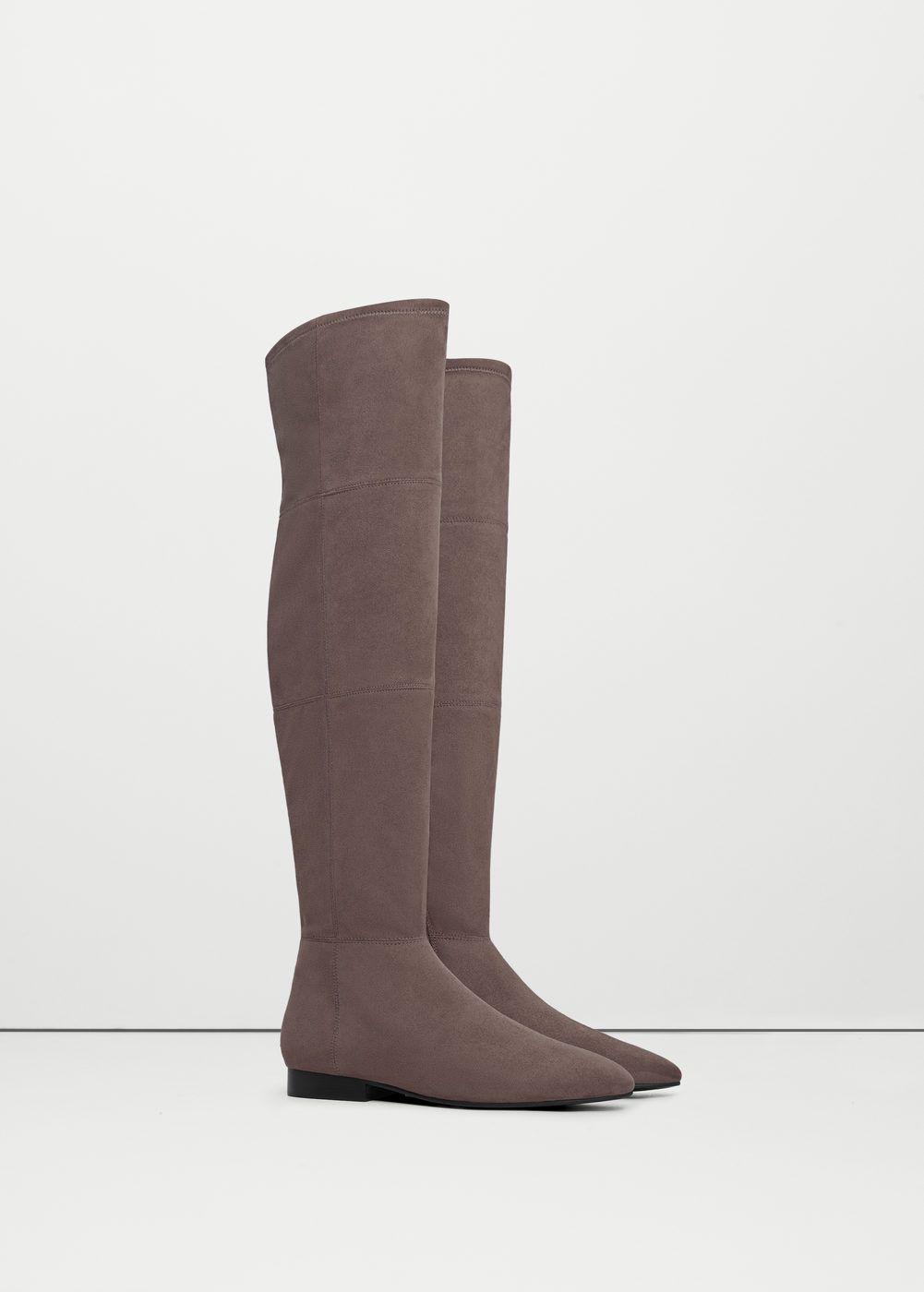 9f7c4b4993a Bota alta plana - Zapatos de Mujer