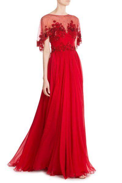 فساتين سهرة للحوامل تصميم زهير مراد Red Evening Dress Cocktail Evening Dresses Evening Gowns