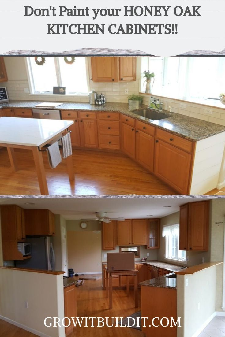 Honey Oak cabinets should not be seen as a negative in a kitchen.  Learn how to give your kitchen the updated look you want without painting those beautiful honey oak cabinets!!
