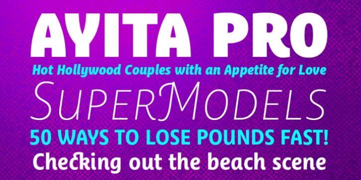 Ayita Pro™ font download | Fonts | Fonts, Typography fonts, Sans