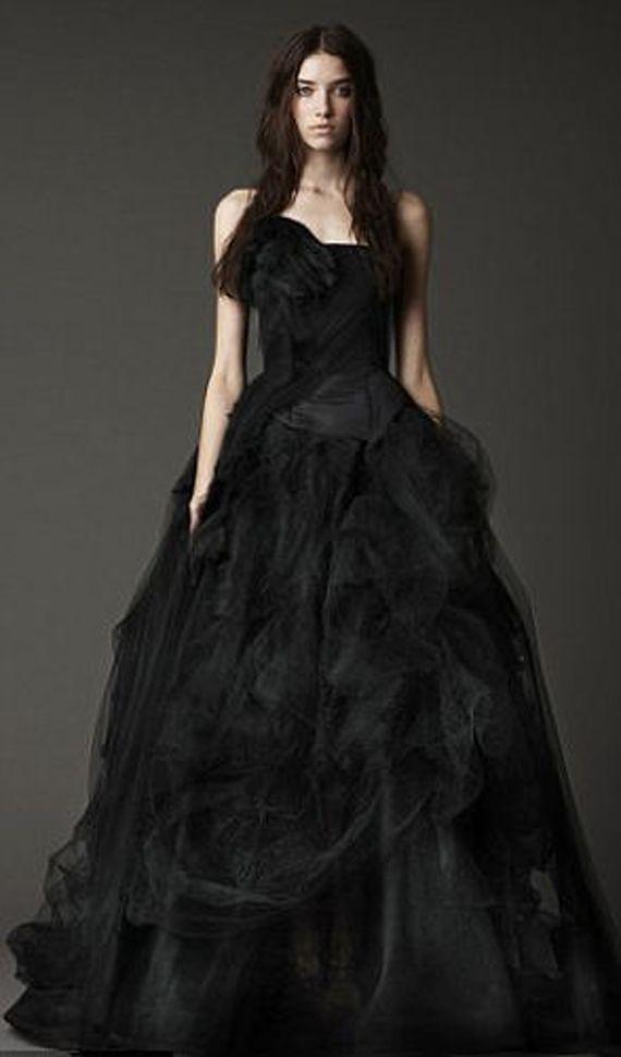 Black-Lace-Wedding-Gowns-Designs-Ideas | Black Wedding | Pinterest ...