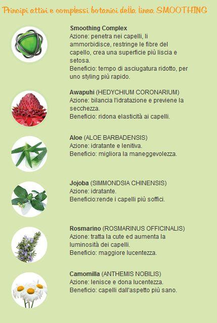 Principi attivi e complessi botanici della linea SMOOTHING by Paul Mitchell
