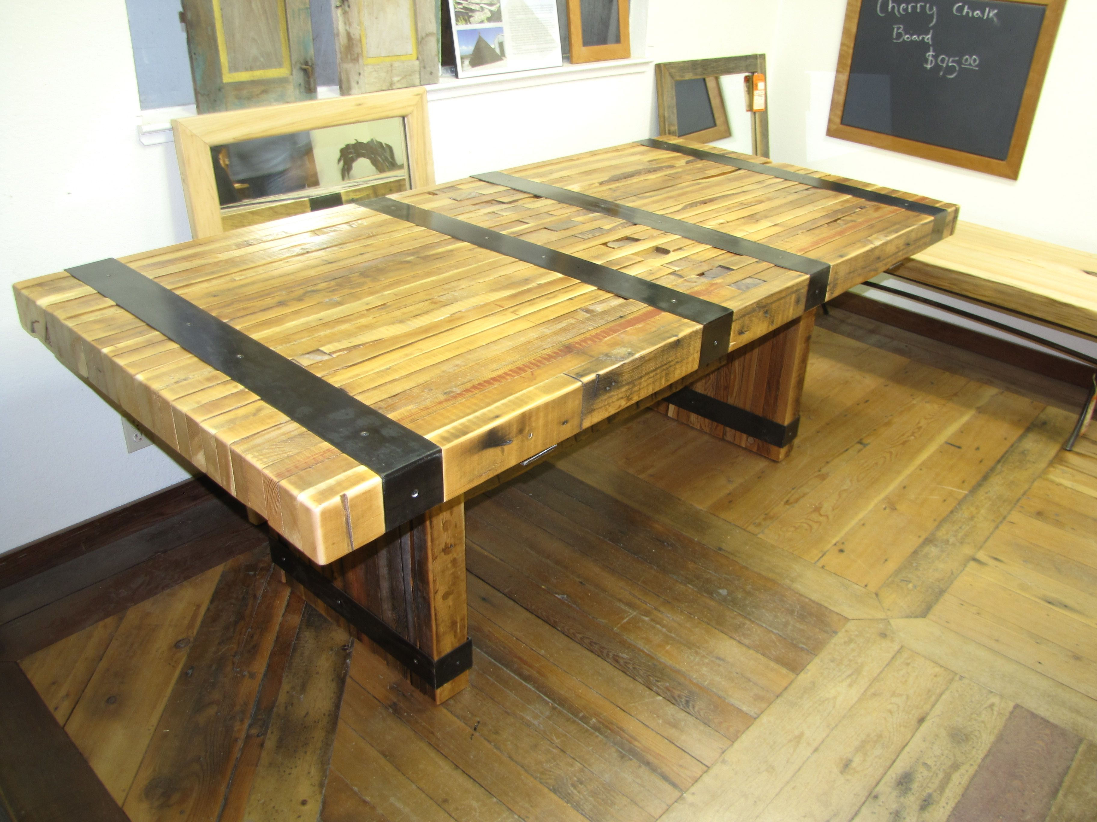 This Medieval Table Was Made From The Crib Walls Of An Old Grain Elevator!