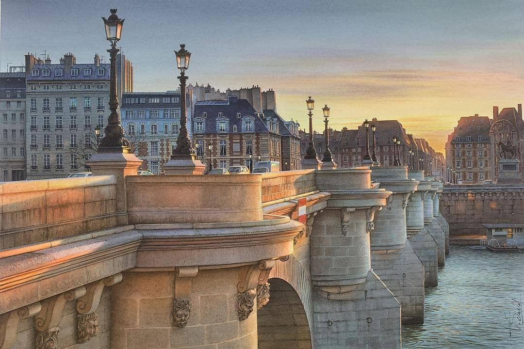 The Best Watercolor On Instagram Watercolor By Thierry Duval