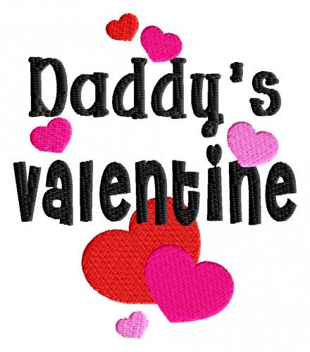 daddys valentine embroidery design