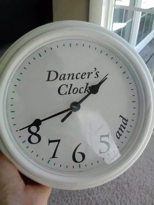 Dancer's clock ! So beautiful <3