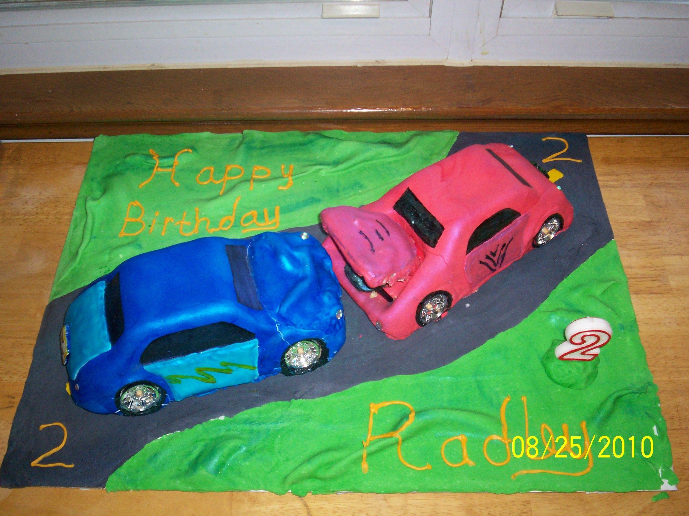 Crash Em Smash Em Car Cake My Cakes Cupcake Cakes