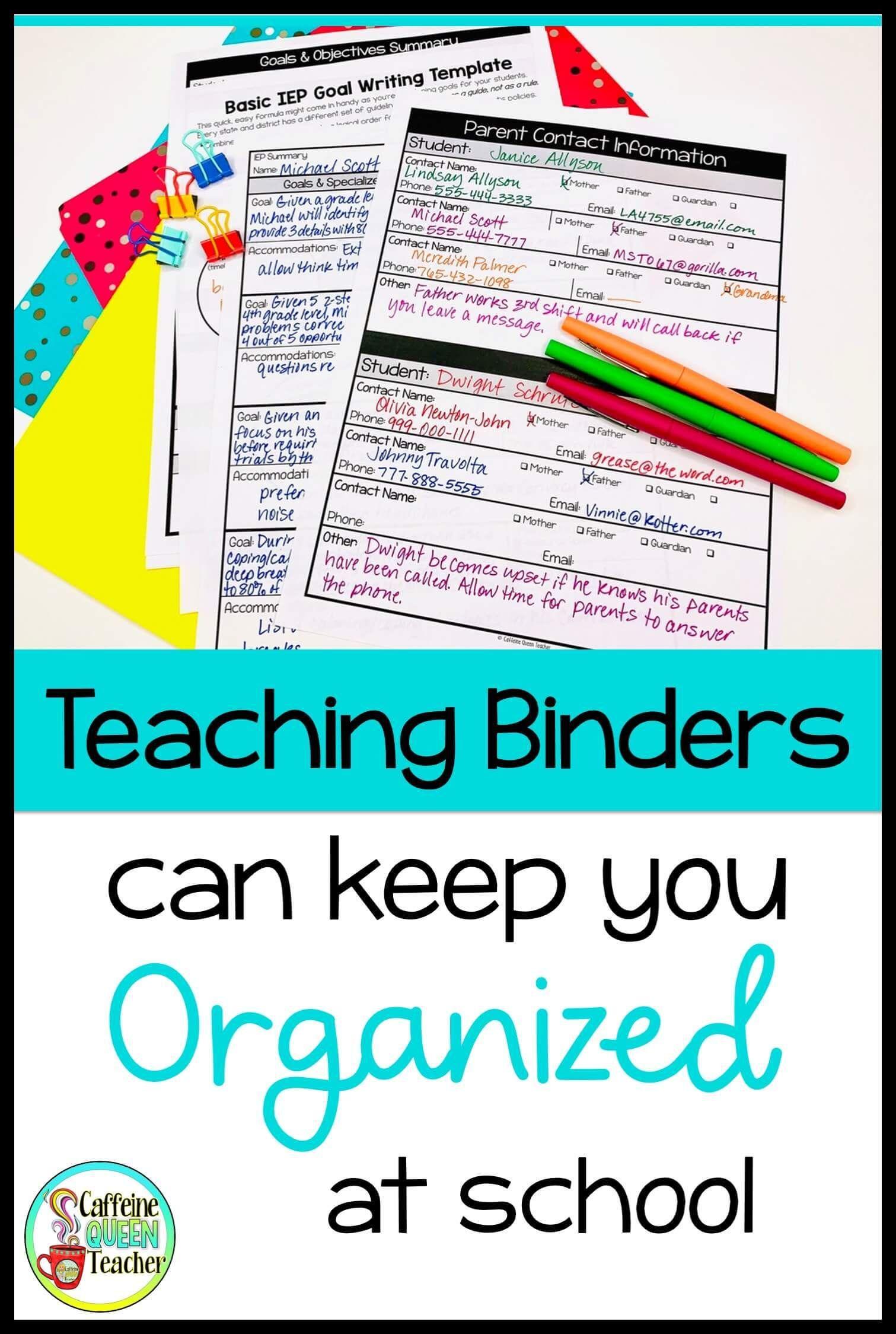Need Some Teacher Binder Organization Ideas Here S What