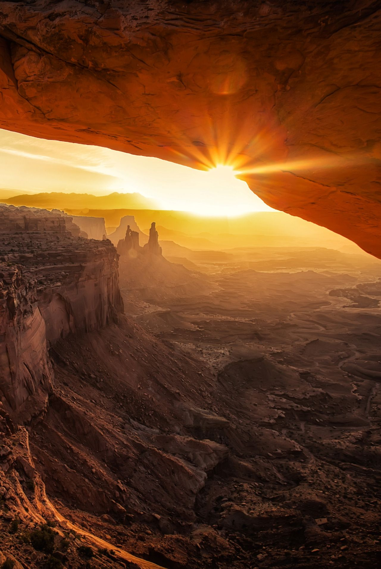 """0rient-express: """"Daybreak in Canyonlands   by Marc Perrella."""""""