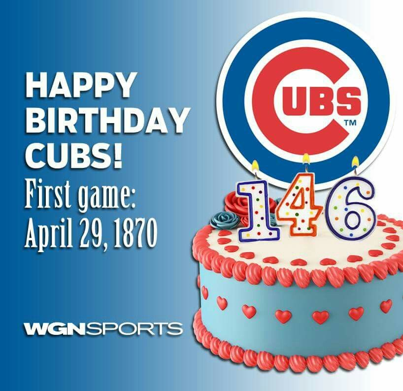 Happt Birthday Chicago Cubs! April, 29th 1870 / First Game