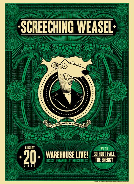 GigPosters.com - Energy, The - 30 Foot Fall - Screeching Weasel