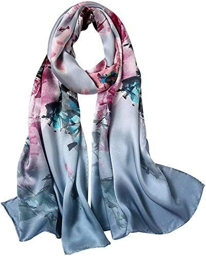 Amazing offer on Silk Scarf Spring Summer Pure Silk Scarf Shawl Hand Rolled Edges Natural Sil Amazing offer on Silk Scarf Spring Summer Pure Silk Scarf Shawl Hand Rolled...