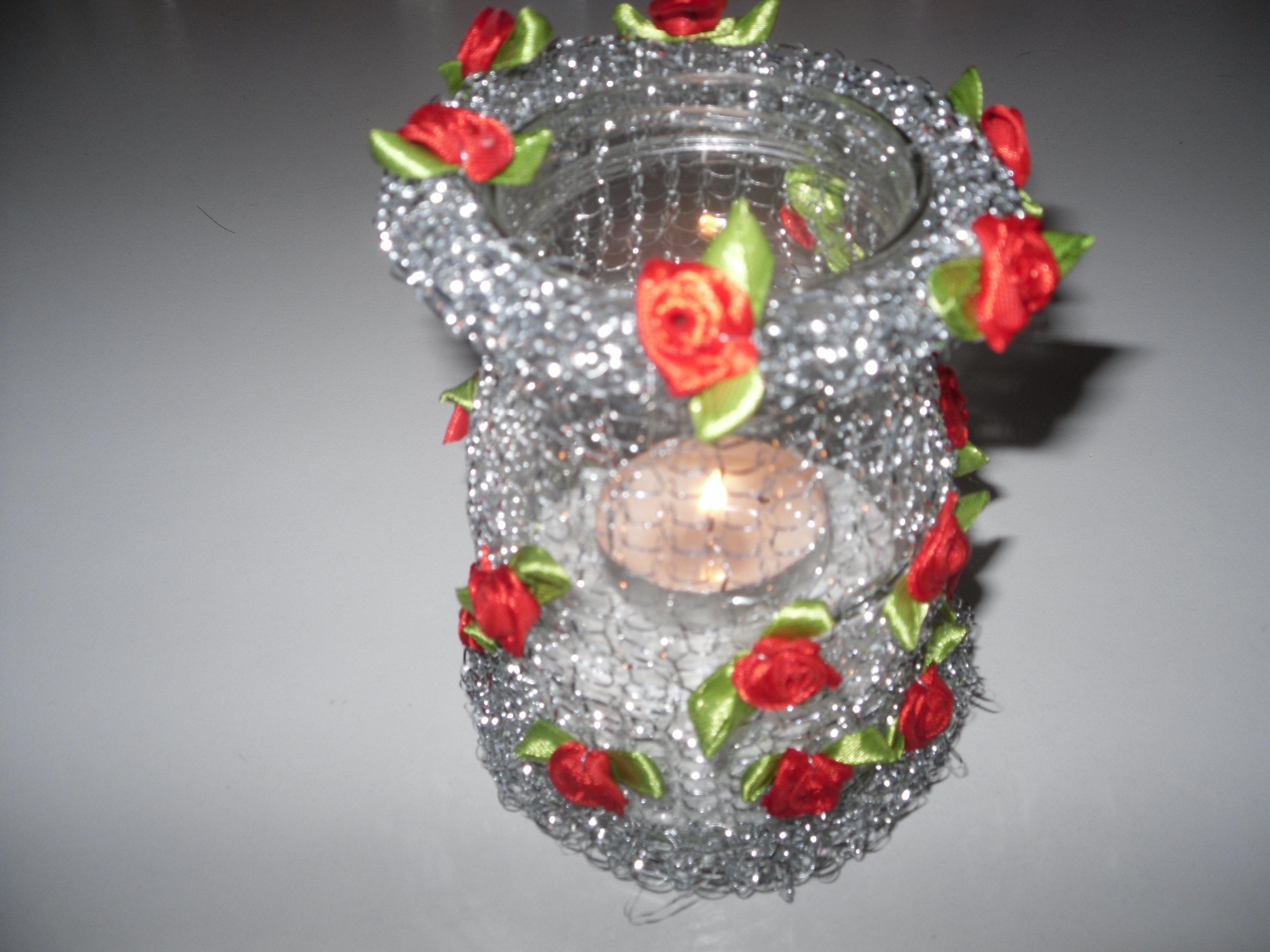 man ben tigt ein marmeladenglas einen topfkratzer und ein wenig deko alles m gliche. Black Bedroom Furniture Sets. Home Design Ideas
