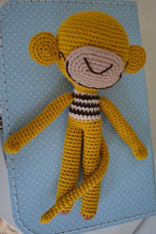 Das Häkeläffchen Moccato habe ich frei aus der Nadel gehäkelt.  #Häkeln #crochet #Amigurumi #Häkeltiere #ohne Anleitung #Affe