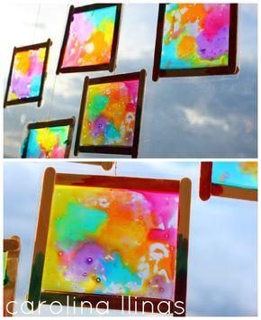 Manualidades para ni os vitrales 5 pintores pinterest for Trabajo para pintores