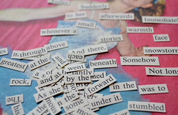 Cut Words From Old Books to Make Custom Fridge Word Magnets