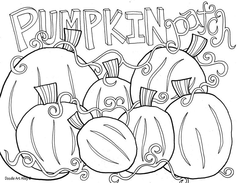 Pumpkin Patch printable Fall coloring pages