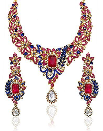 Wedding Party Wear Indian Bollywood Gold Plated Pink Blue