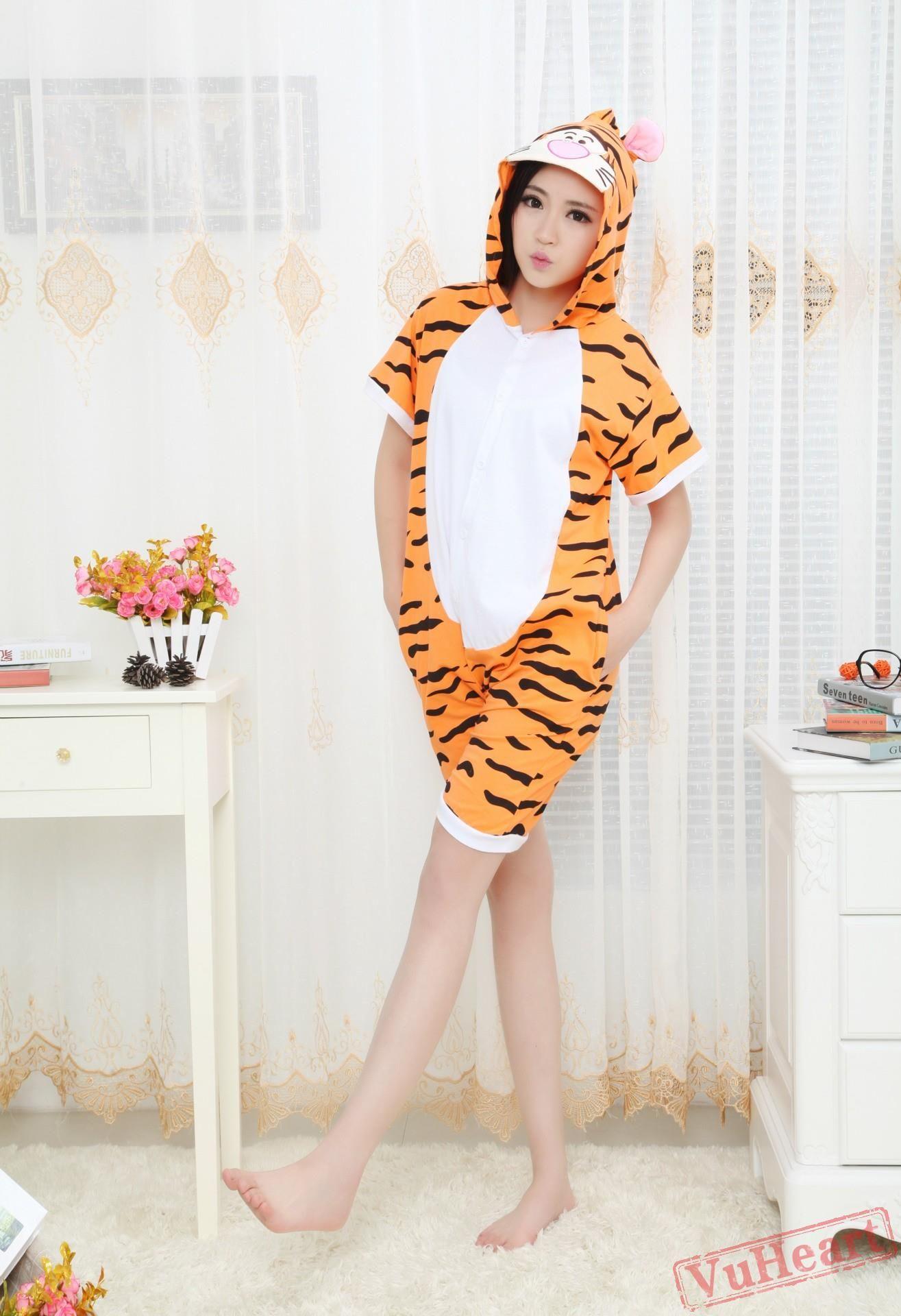 2e296e2fc1 Summer Tigger Kigurumi Onesies Pajamas for Women   Men