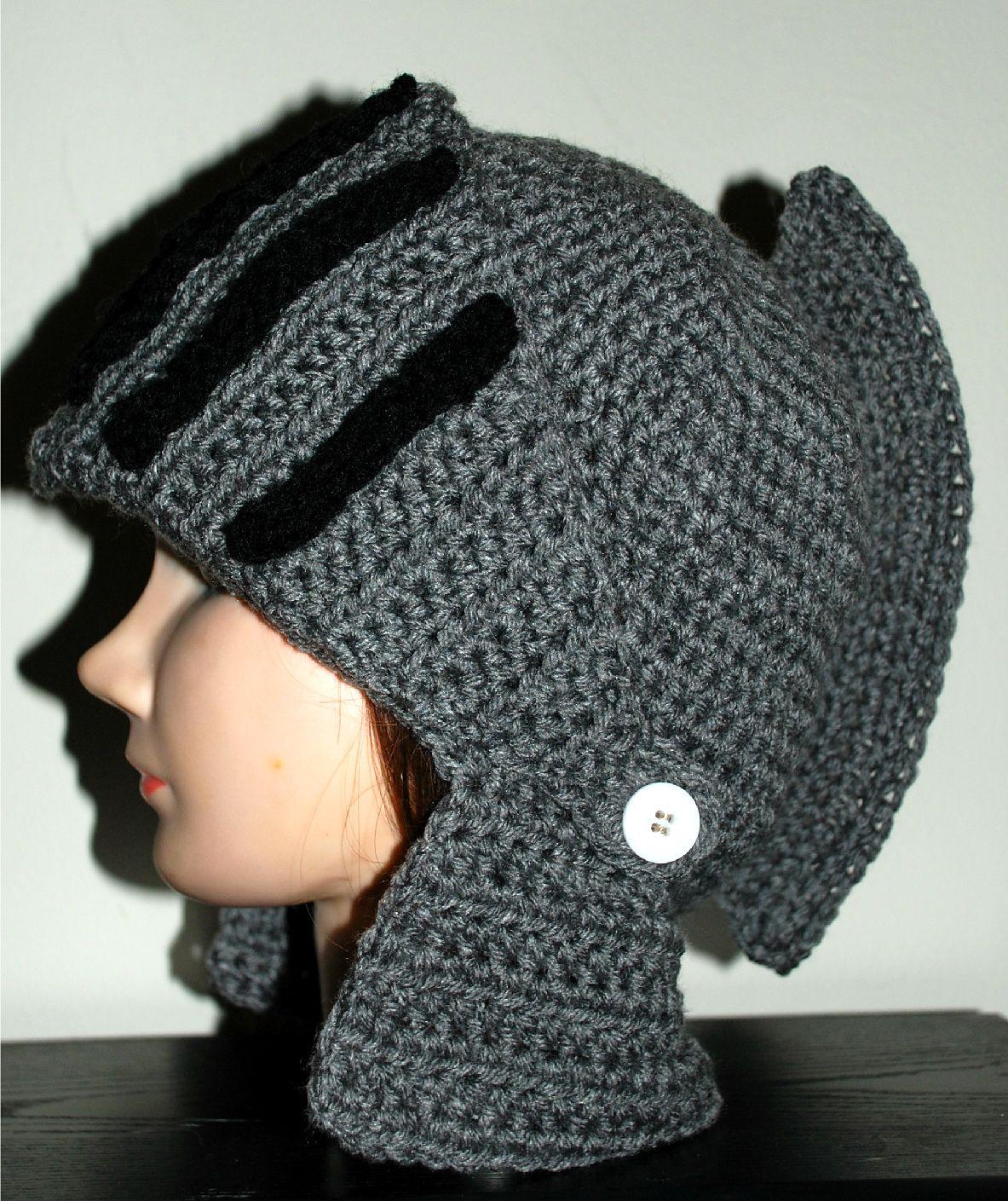 Ravelry: Men\'s Knight Helmet Hat pattern by Amy Lehman | ALL ...