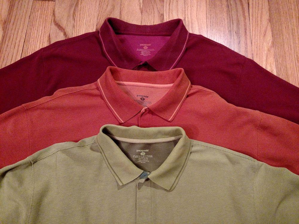 Patagonia Pique Vitallity S/S Polo Shirt Men's Size Medium