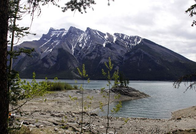 Looking out over Lake Minnewanka