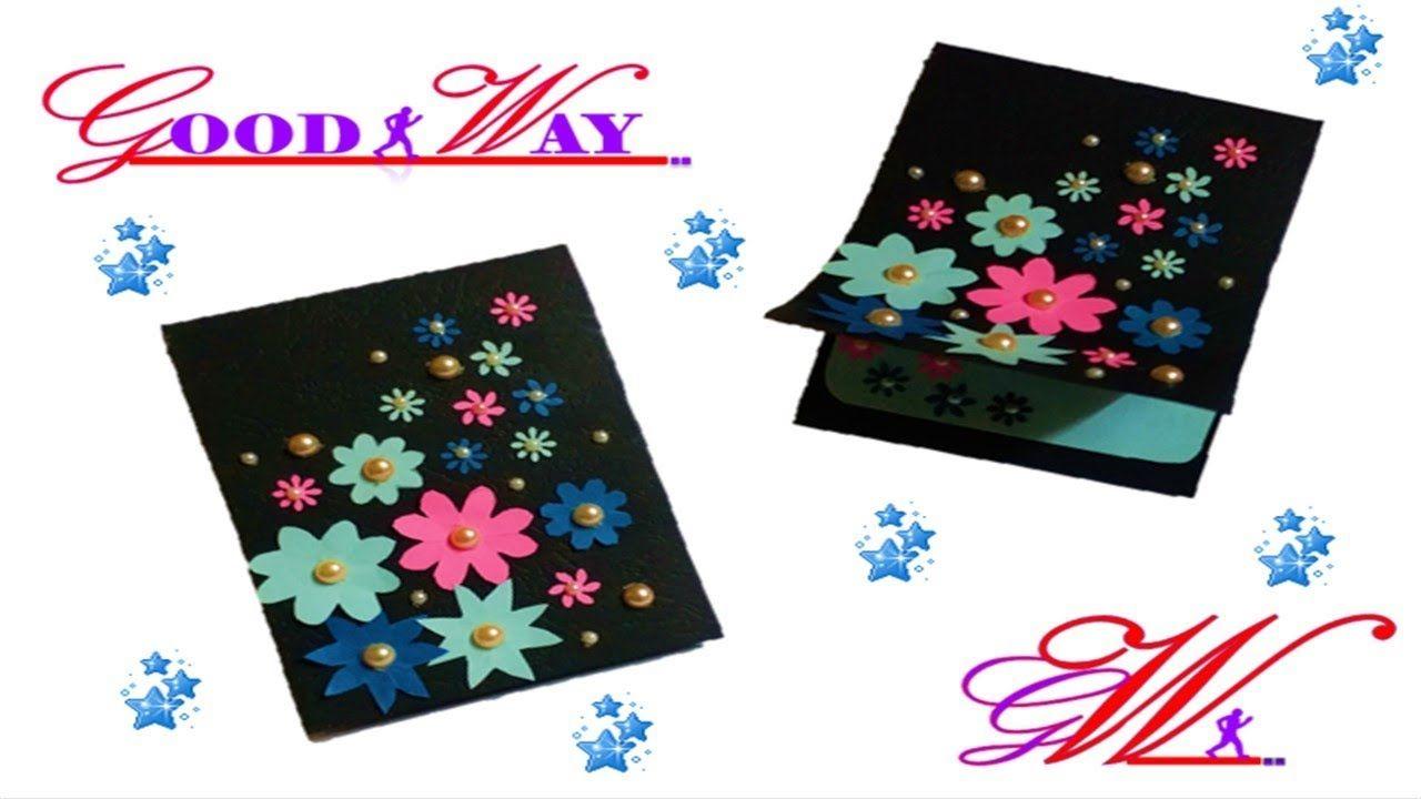 طريقة عمل بطاقة تهنئة أو دعوة أو مطوية 38 Greeting Card Or Invite Hand Art Diy And Crafts Crafts