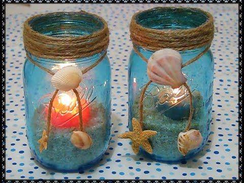 Vasijitas de mar decoraci n para el hogar manualidades - Decoracion con reciclaje para el hogar ...