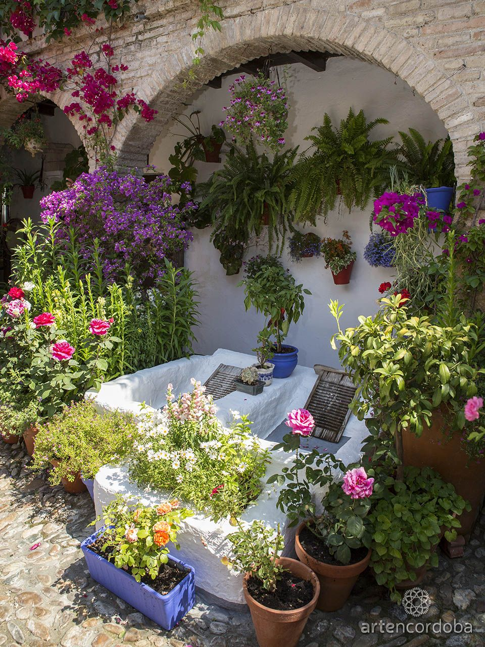 Otro Elemento Fundamental En El Patio Cordobés Es La Pila De Lavar Plantas De Jardín De Sombra Patios De Cordoba Jardines