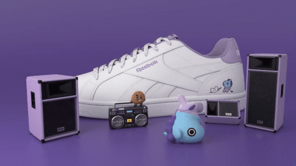 279ebe861 Reebok x bt21 royal complete 2lcs in 2019