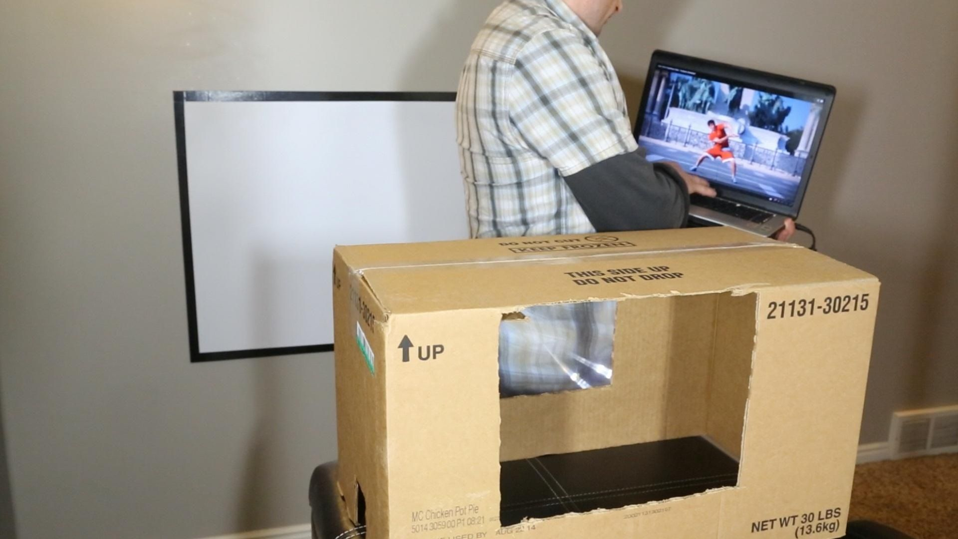 How To Make A Diy Home Theater Projector And 50 Screen For Only 5 Great For March Madness Home Theater Setup Diy Projector Home Diy