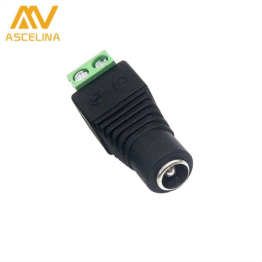 Ascelina 1 pcs dc power female connectors plug 55 x 21mm