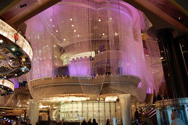 Three Stories One Chandelier At The Cosmopolitan Hotel Las Vegas I Was Here