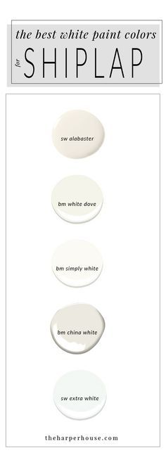 Best White Paint For Trim white paint colors: 5 favorites for shiplap | sherwin williams