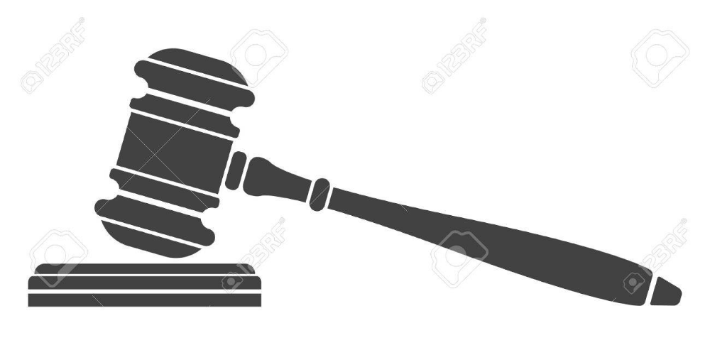 Judge Gavel Icon Auction Hammer Isolated Black Silhouette On Royalty Free Cliparts Vectors And Stock Illustrat Black Silhouette Hammer Logo Photo Editing