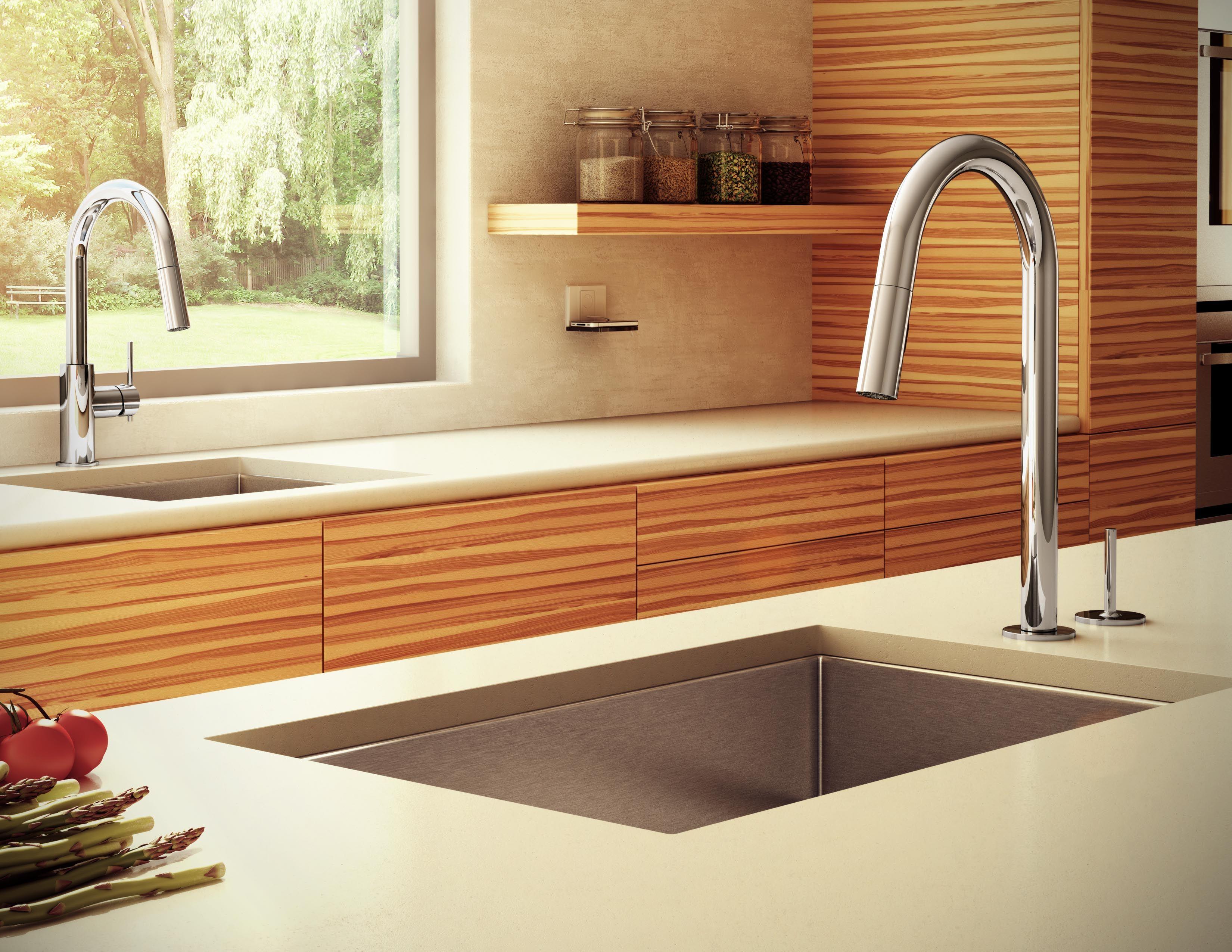 Left: Quinoa Prep Pull-Down Dual Stream Mode Kitchen Faucet.6045B ...