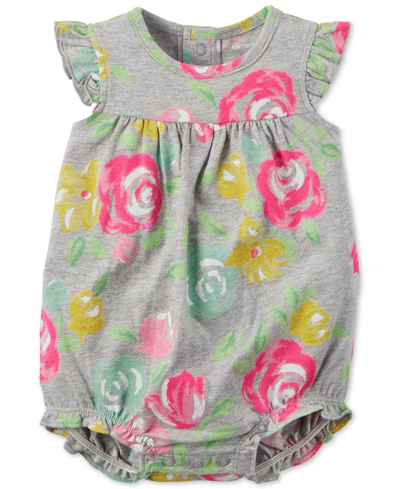 38fca33f2a0 Carter s Baby Girls  Floral-Print Romper - Baby Girl (0-24 months) - Kids    Baby - Macy s