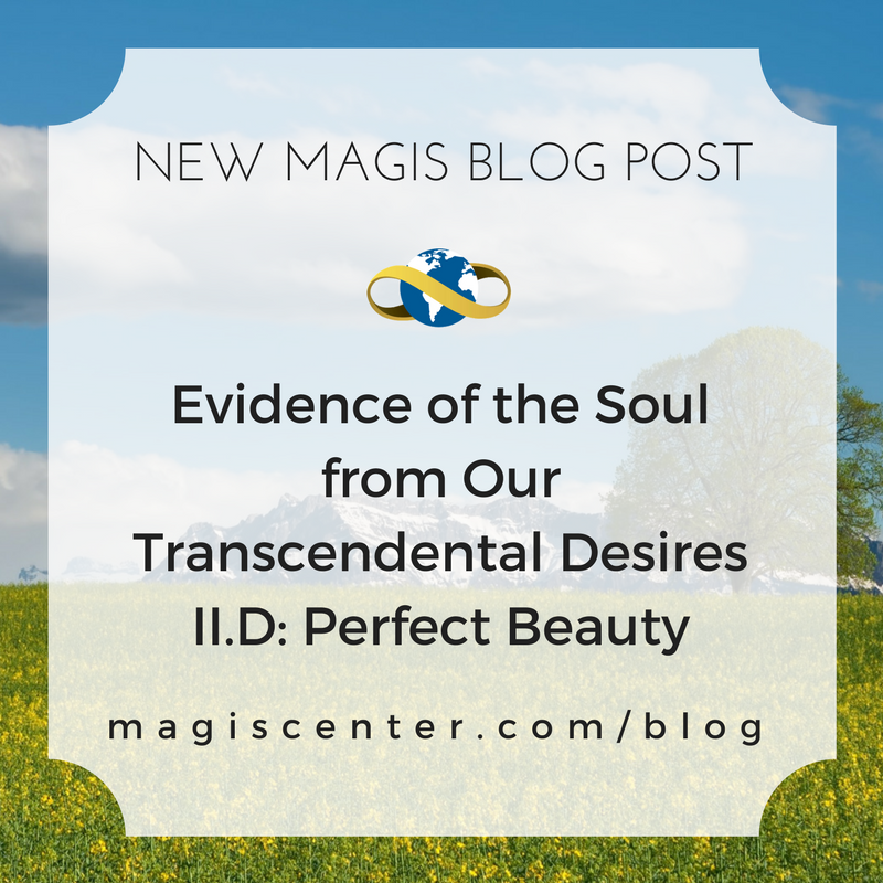 New Magis Blog Post -- Evidence of the Soul from Our Transcendental Desires II.D: Perfect Beauty