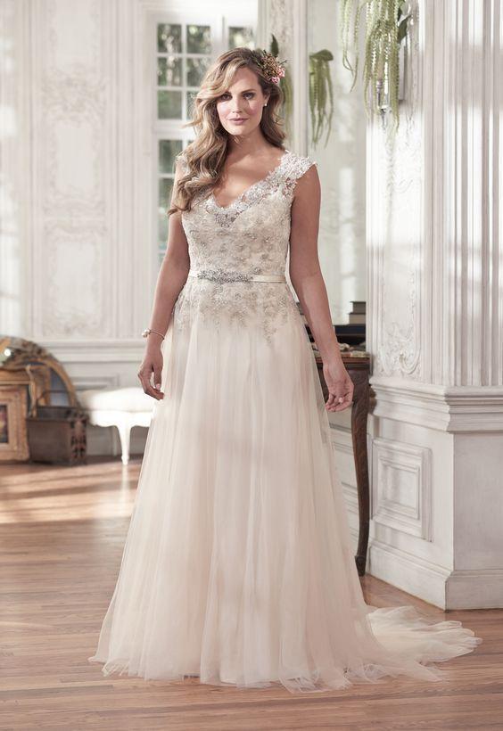 consejos para vestidos de novia de talla grande | pinterest