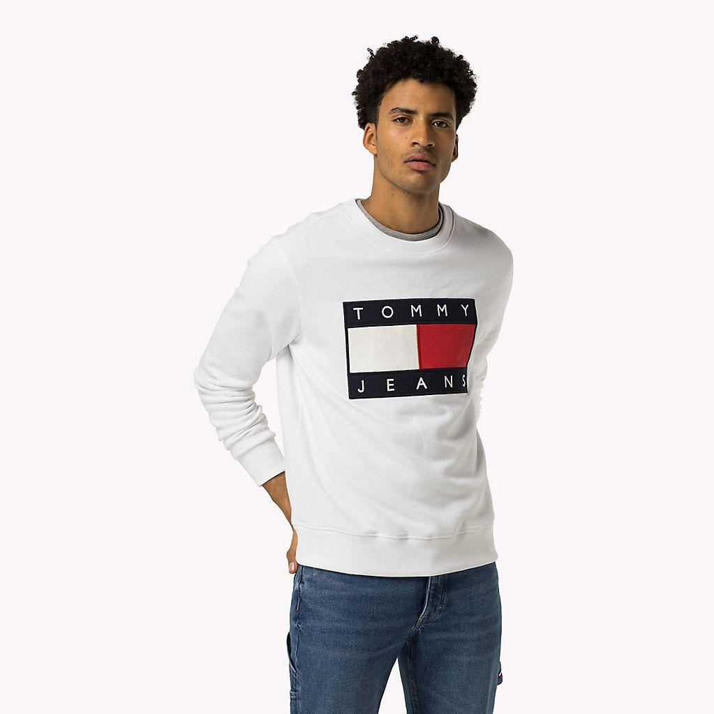 HILFIGER DENIM Logo Sweatshirt aus Baumwoll Fleece   Jungs