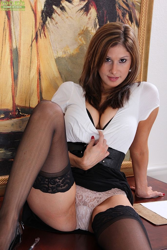 Very horny sexy secretaries in white panties think