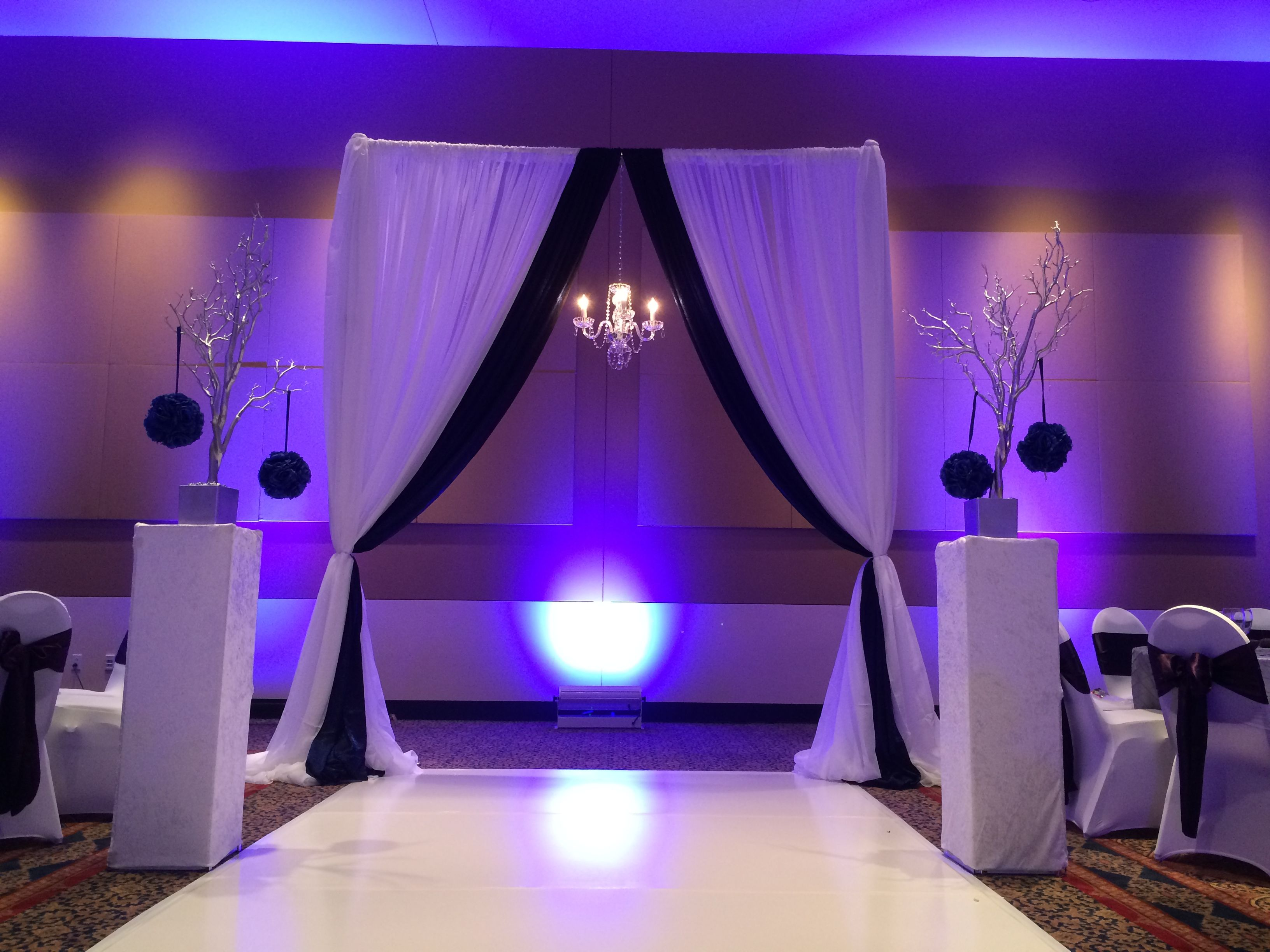 voile events drape more how behind decor greenville and of sc scenes swag event hang the diy for ceiling to drapes chandelier