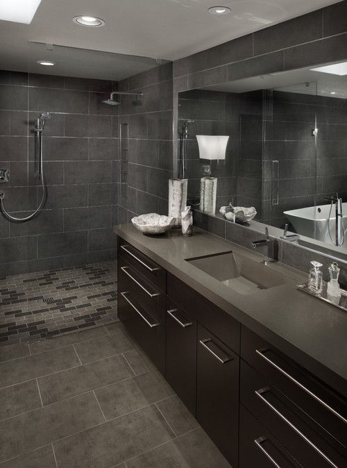 Gray Bathroom Designs great grey colored for masculine bathroom interior sets design