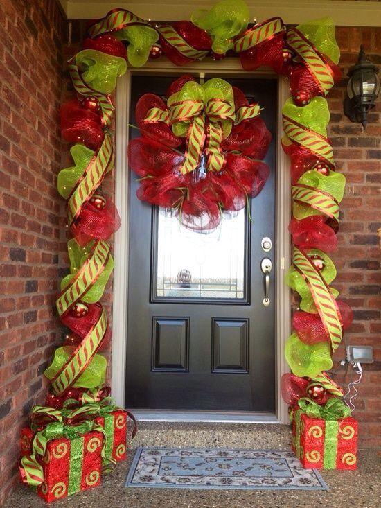 Christmas decor Holiday DIY Pinterest Entrada de casa, Navidad - decoracion navidea para exteriores de casas