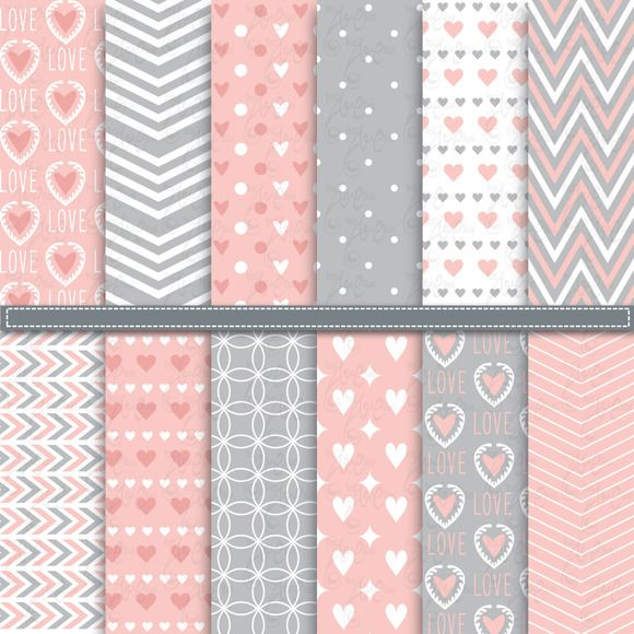 12 Love Digital Paper by YenzArtHaut on Creative Market