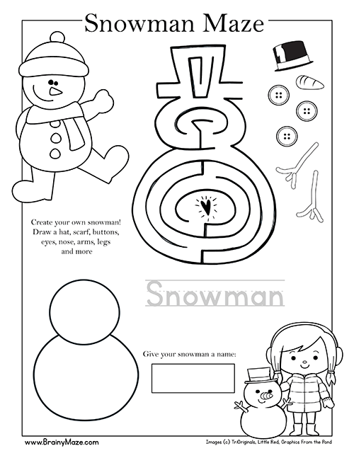 A collection of Free printable maze and activity pages for young ...
