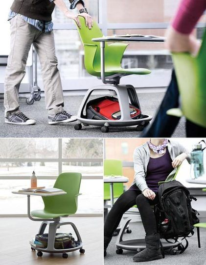 IDEO + Steelcase collaboration designed for the classroom offers a laptop-friendly setup for students and small space dwellers alike.