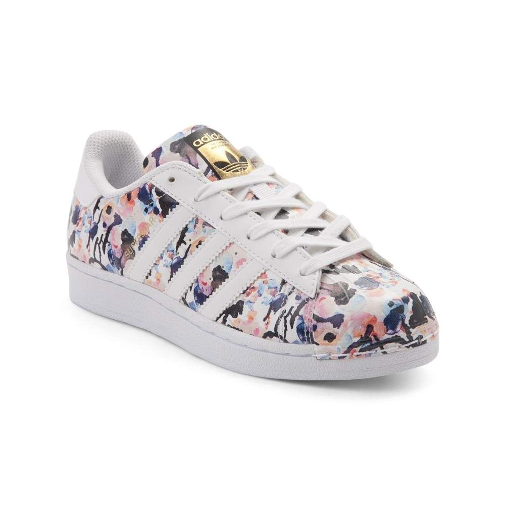 Tween adidas Superstar Floral Athletic Shoe